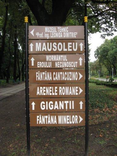 Indicatoare Parcul Carol